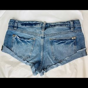 Free People Shorts - Free People Denim Cuff Shorts Distressed Low Rise